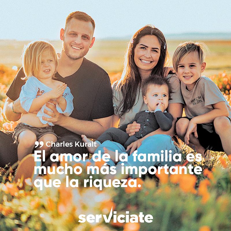 El amor de la familia es mucho más importante que la riqueza.